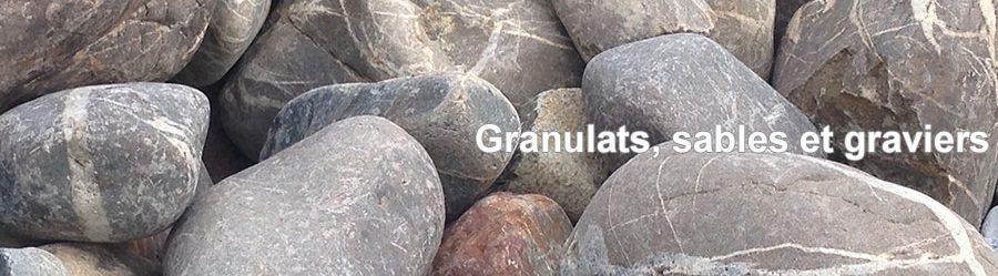 Granulats, sables et graviers
