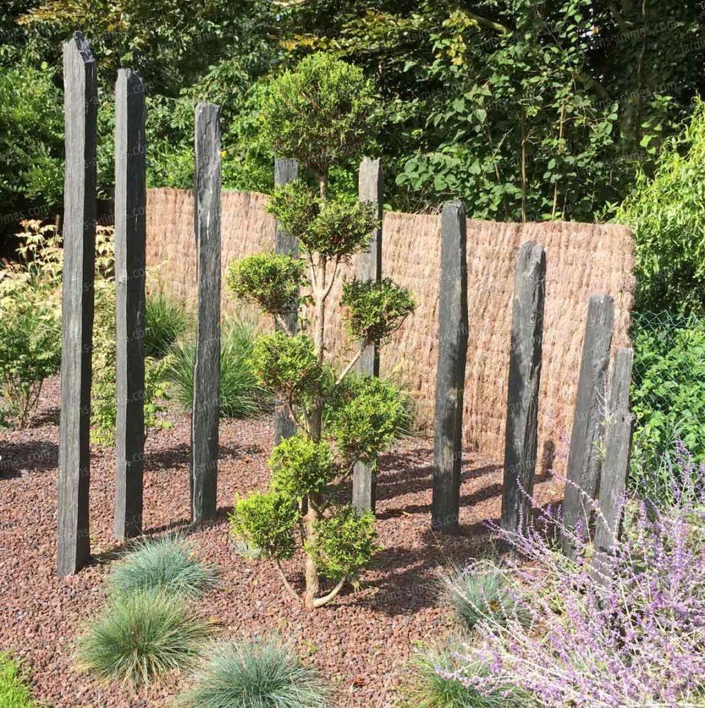 Schiste et ardoise dalles piquets et palis bayonne for Piquet ardoise jardin